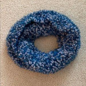 Blue Knit Circle Scarf